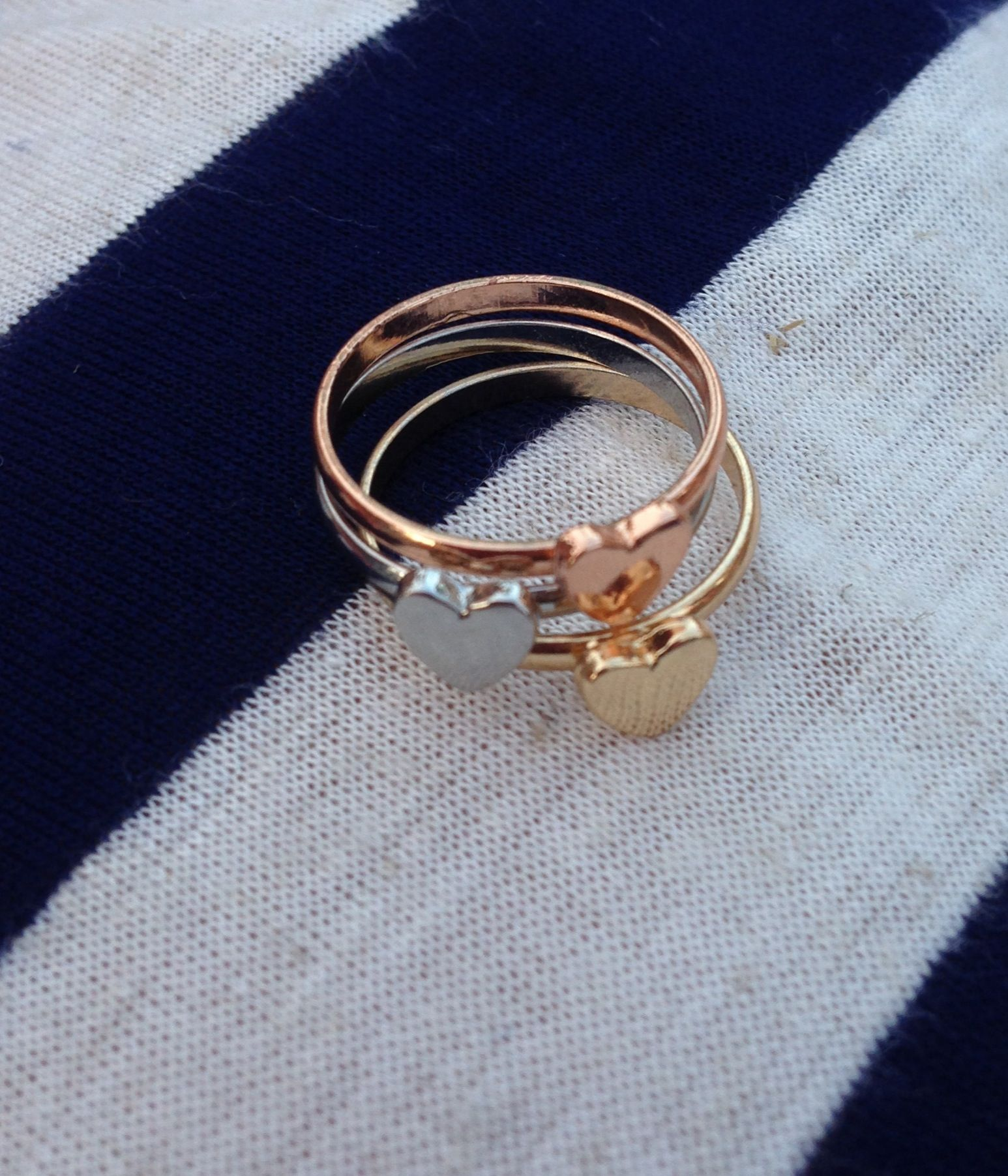 Heart stacking rings