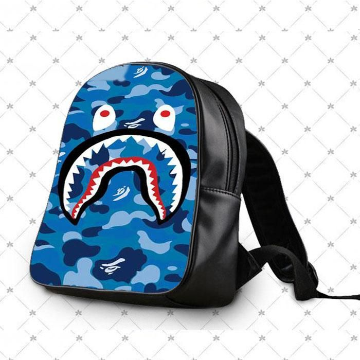 4b46a06d2807 Bape Camo Shark Blue School Bag Backpacks