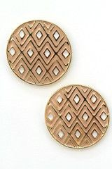 geo print circle studs - the factory boutique