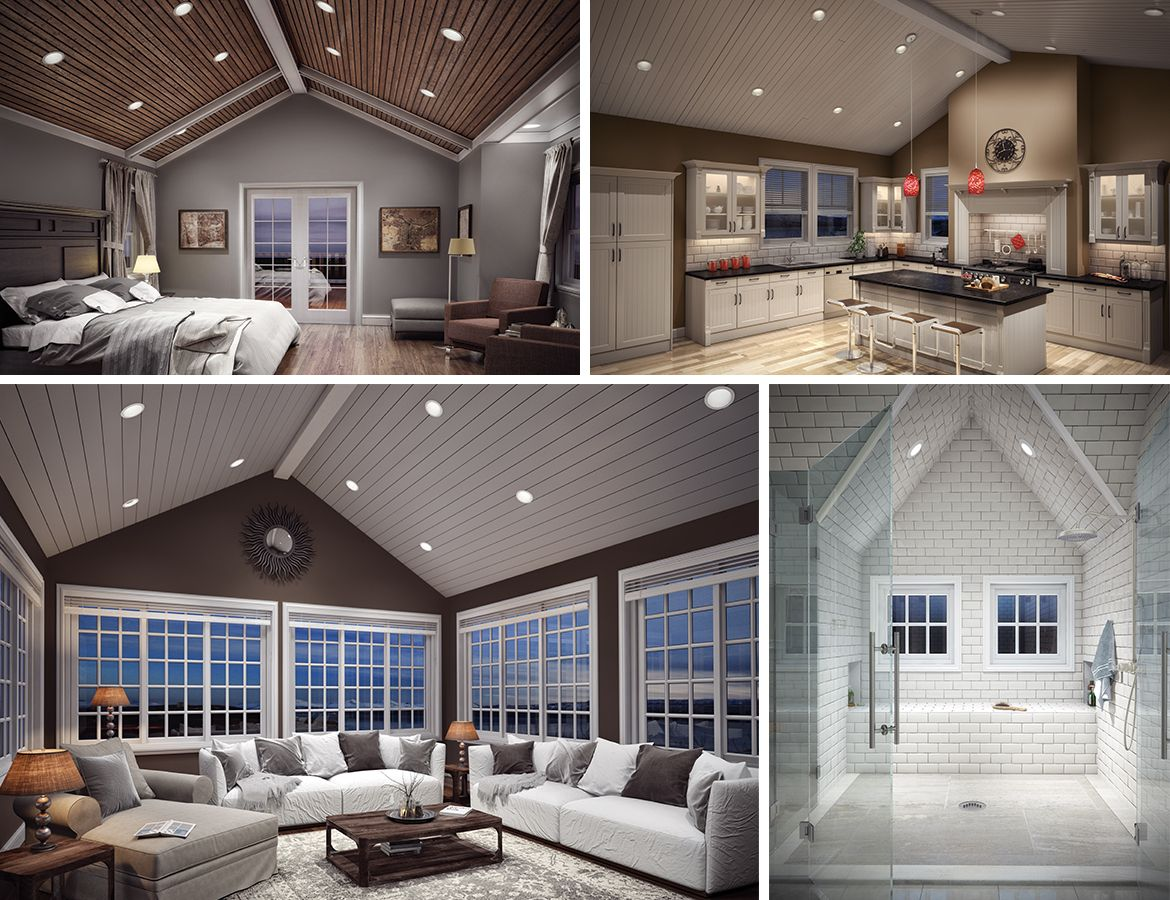 Sloped ceiling light | LED | pitched ceiling | light ...
