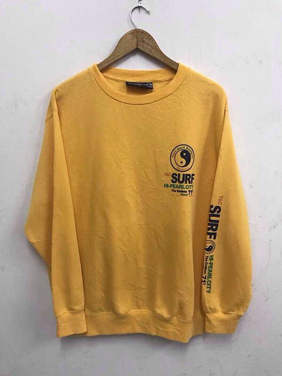 799e4af685b7a T C Surf Sweatshirt Design Men Jumper Crewneck Vintage 90 s Surfer ...