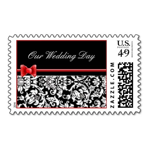 Buy Wedding Stamps | Black And White Damask Wedding Stamps W Bow This Great Stamp Design