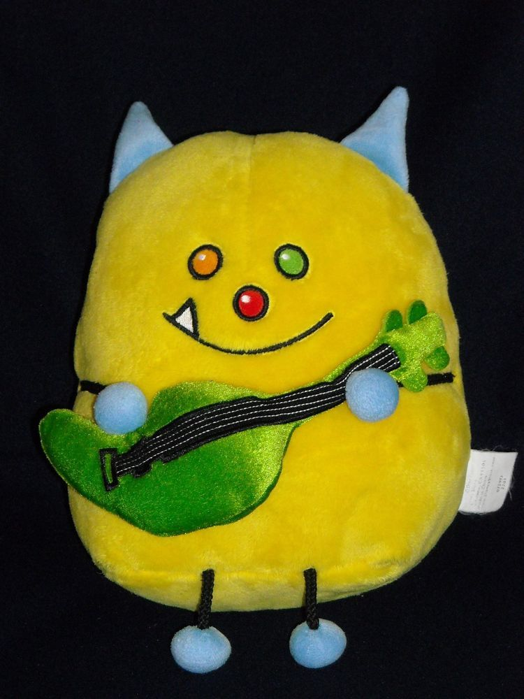 10 Sc Hmb L O Guitar Happy Monster Band Yellow Cat Disney Stuffed