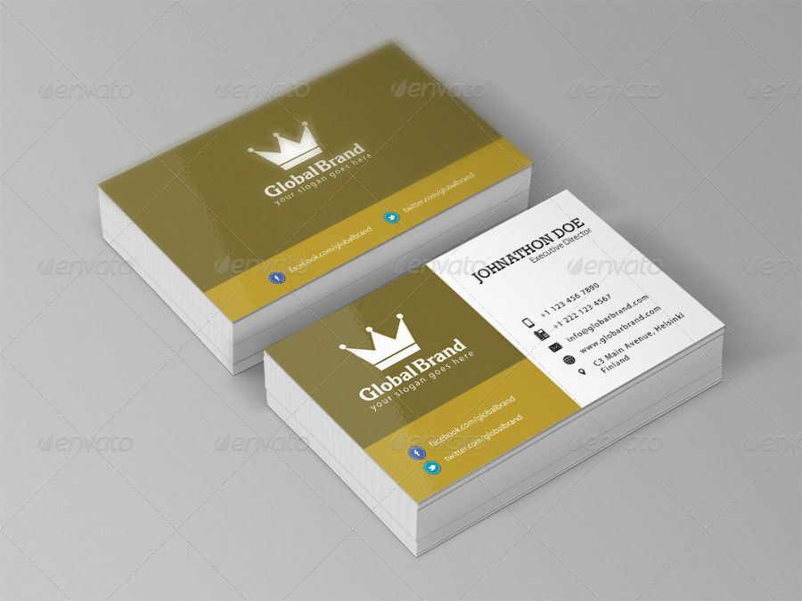Clean And Simple Business Card Simple Business Cards Visiting Card Design Business Card Size