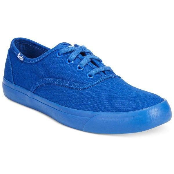 Keds Women's Triumph Lace-Up Oxford Sneakers ($35) ❤ liked on Polyvore featuring shoes, sneakers, blue, keds footwear, laced up shoes, oxford lace up shoes, blue sneakers and blue shoes