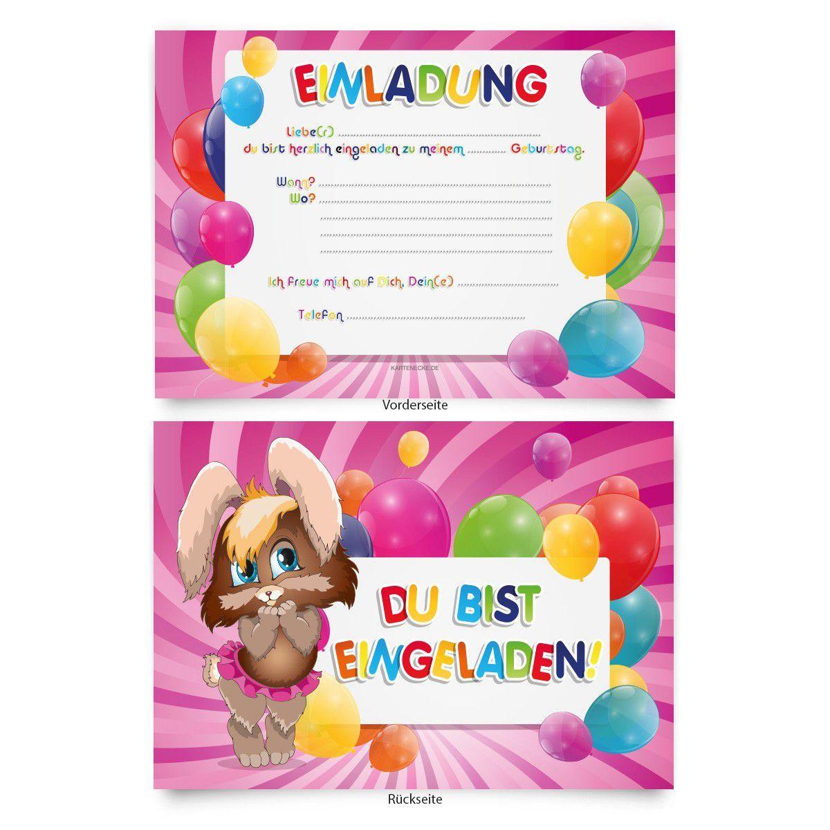 Einladungskarten Zum Geburtstag Kostenlos Zum Ausdrucken