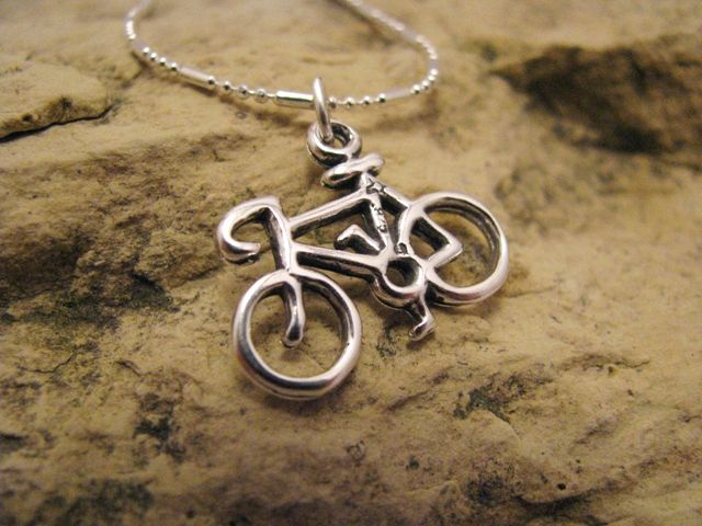 Bicycle sterling silver charm jewelry necklace pendant bracelet bicycle sterling silver charm jewelry necklace pendant bracelet charm aloadofball Image collections