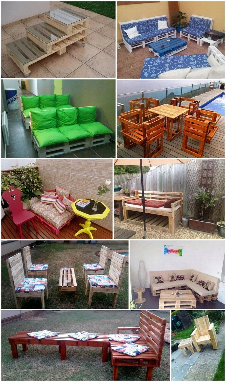 creative diy outdoor pallet furniture ideas outdoor sectional ideas pallet pallet furniture. Black Bedroom Furniture Sets. Home Design Ideas