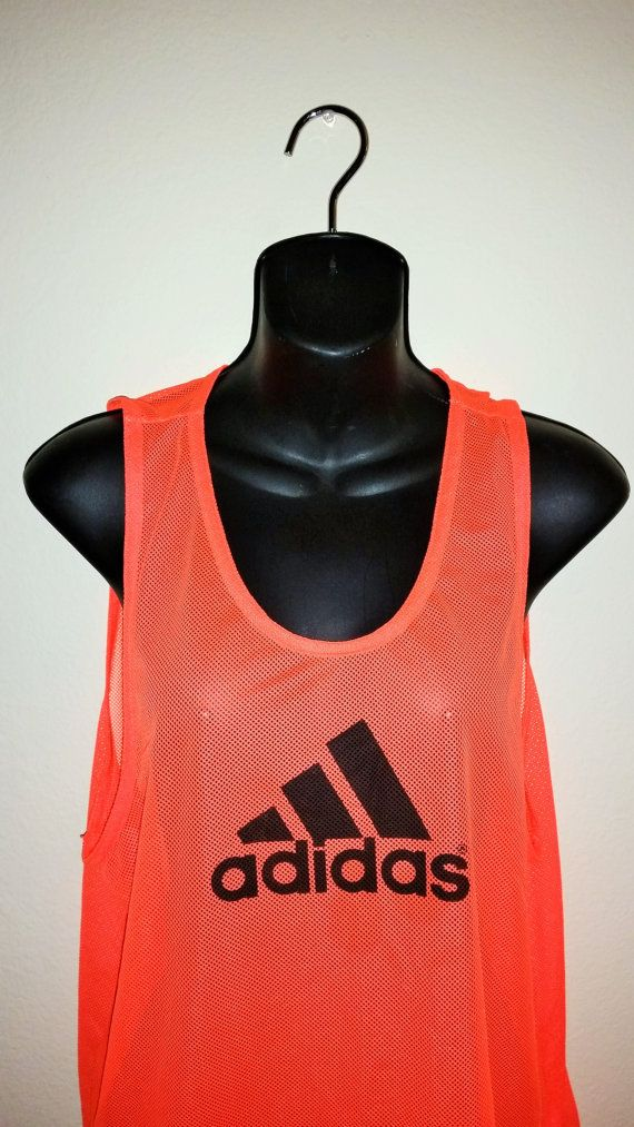 Vintage Neon Sheer Mesh Adidas Tank Jersey Size by VaporVision On the site  www.vaporvision.etsy.com For the  healthgoth who still needs to stand out. d4d17ccbe
