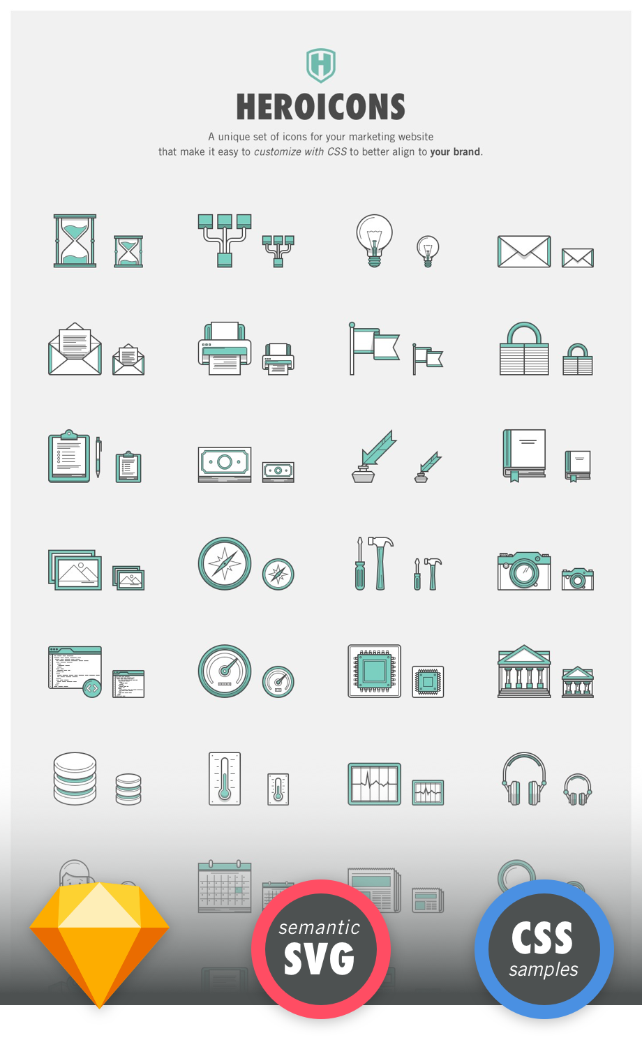 A set of premium customizable SVG icons for your marketing