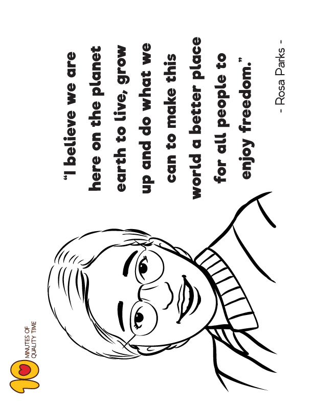 Rosa Parks Coloring Page I Believe In 2020 Coloring Pages Rosa Parks Fun Activities For Kids