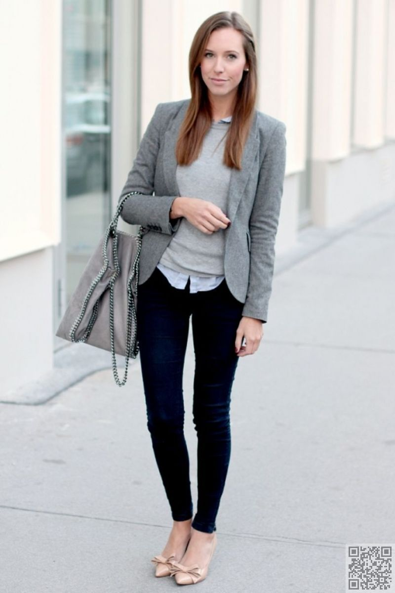 19. The #Cotton Blazer and Grey Hobo Bag Are a Nice #Touch - How ...