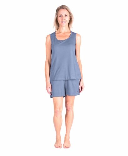 Women S Moisture Wicking Scoop Tank Short Set With Images