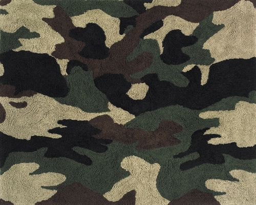 green camo rug - kids accent floor camouflage area rug | boys