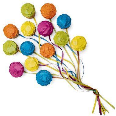 Cupcake Ideas - Balloon Cupcakes