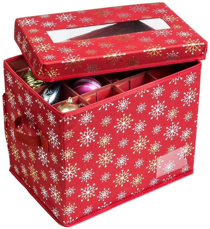 Ornament Storage Container - Red Foil #affiliate Carry Anything