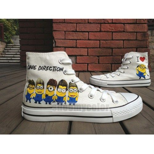 b899da76ee7e One Direction Despicable Me high top shoes hand painted converse  94 ...