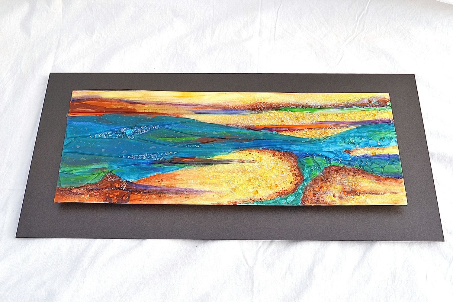 Renovatus Made To Order Fused Glass Wall Hanging Art Mixed