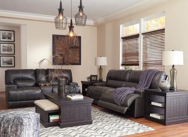 Mccaskill Free Power Upgrade Sofa And Loveseat Leather Living