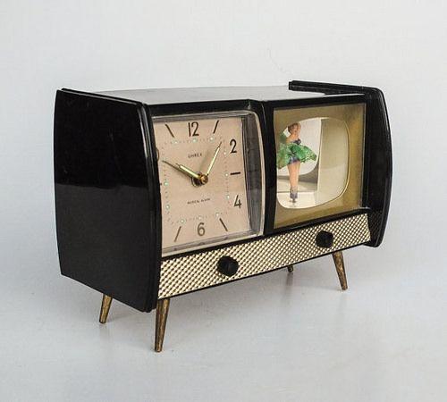 Musical Alarm Clock Dancing Ballerina Television Uhrex 60 S Germany Vintage Home Accessories Vintage Housewares Novelty Clocks