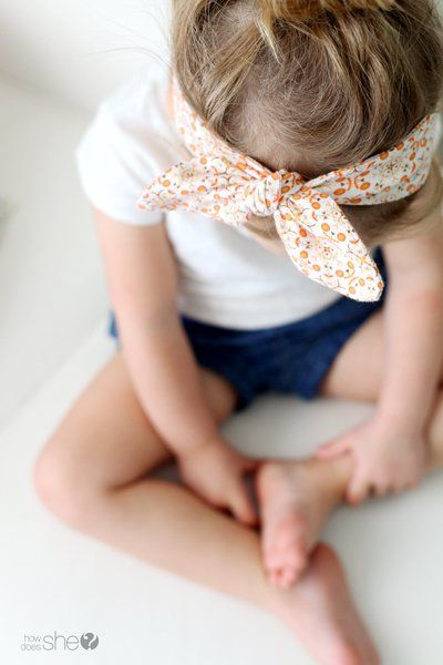 Knotted Baby Headband Tutorial | For the Little Ones | Pinterest ...