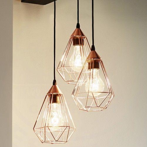 Großartig Design Hängeleuchte Im Shabby Stil Aus Metall In Kupferfarben