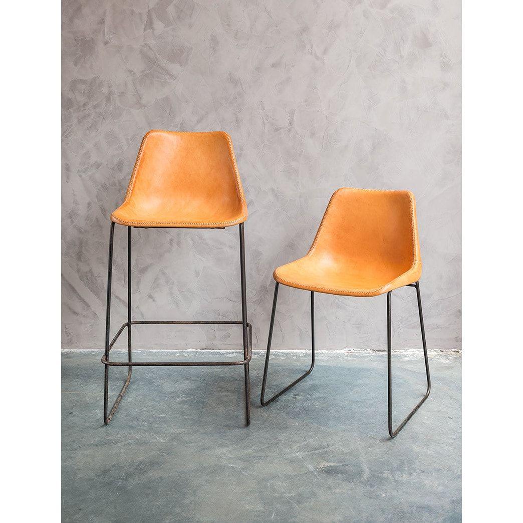 Sensational Hudson Tan Leather Bar Stool Overstock Com Shopping The Andrewgaddart Wooden Chair Designs For Living Room Andrewgaddartcom
