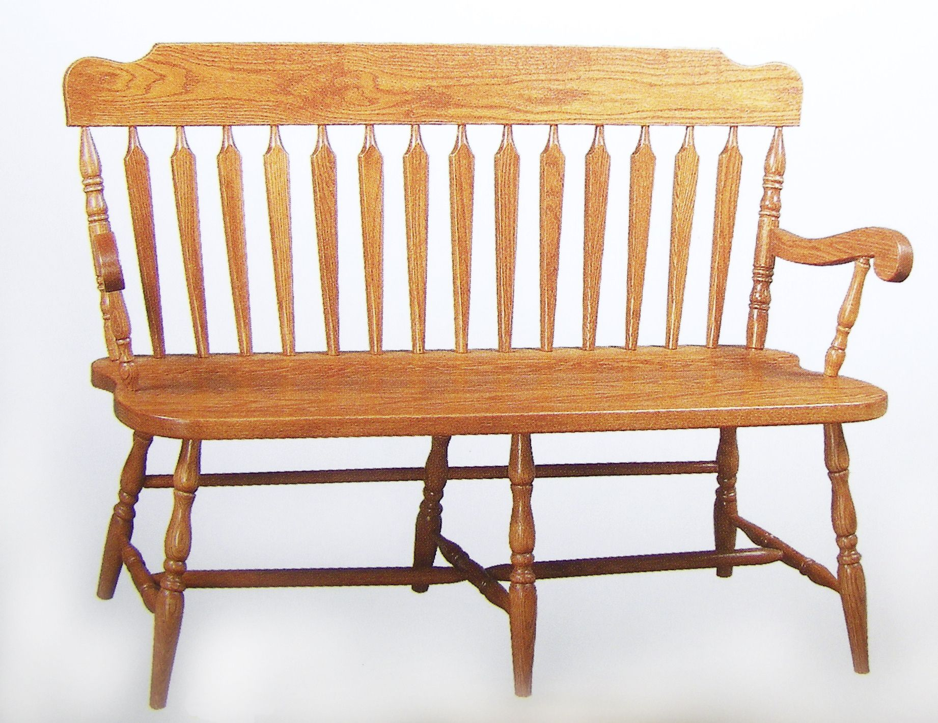 Deacon s bench solid hardwood chairs and benches oak maple