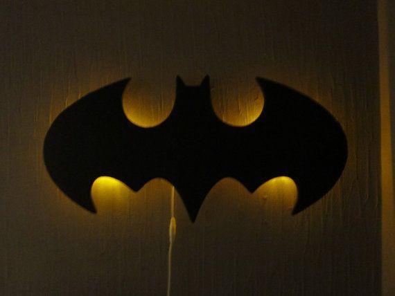 Batman logo wall hanging night lamp night lamps wall hangings and batman logo wall hanging night lamp mozeypictures Images