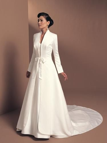 $85.50 long wedding jacket. would look awesome in another colour ...