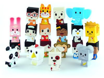 Happy Play - Finger Puppet Papercraft | Papercraft Paradise | PaperCrafts | Paper Models | Card Models