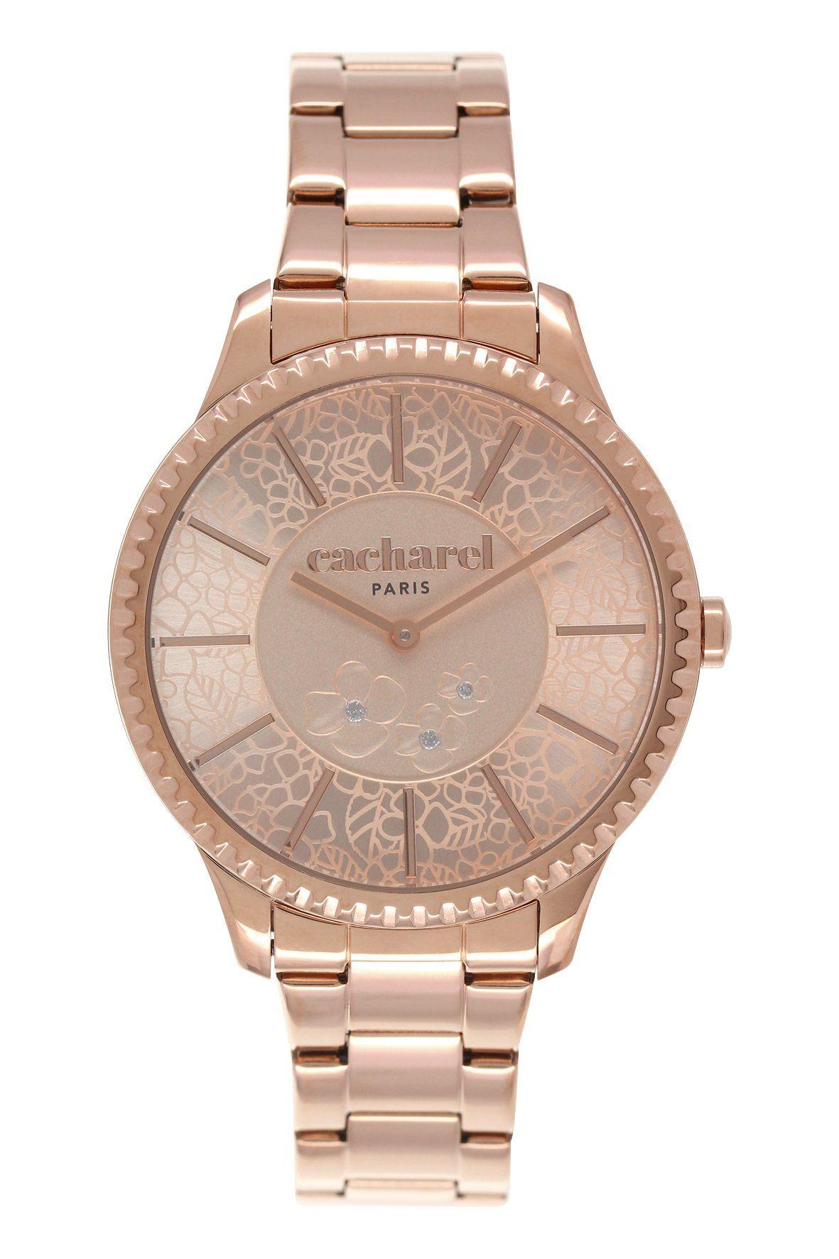 Bracelet montre acier rose
