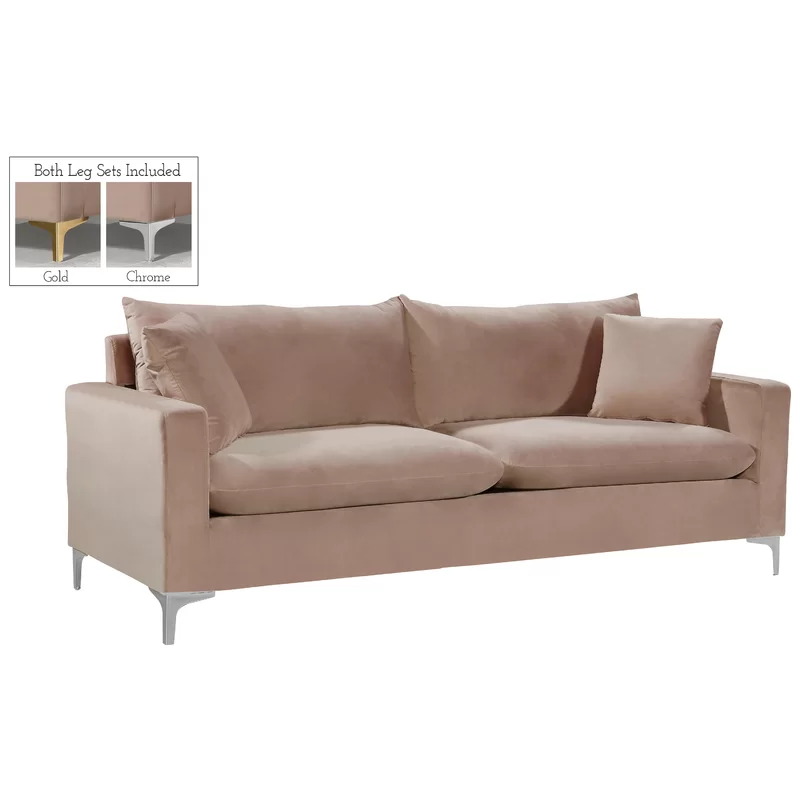 Boutwell Velvet 81 5 Square Arm Sofa With Images Sofa Modern Furniture Living Room Sofa Upholstery