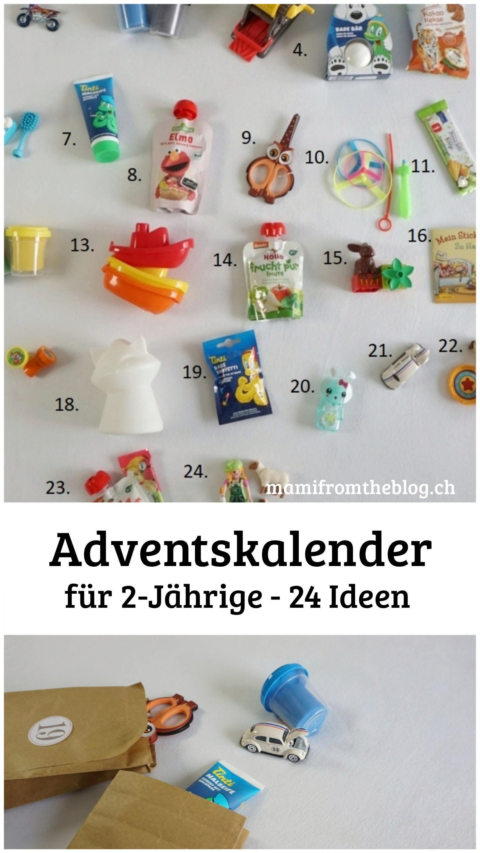 Adventskalender Füll Ideen für 2 Jährige Mädchen und Jungen