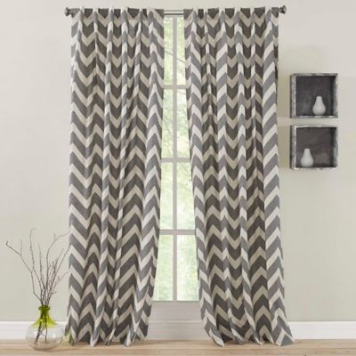 zigami rod pocket window curtain panel have a nice natural chevron