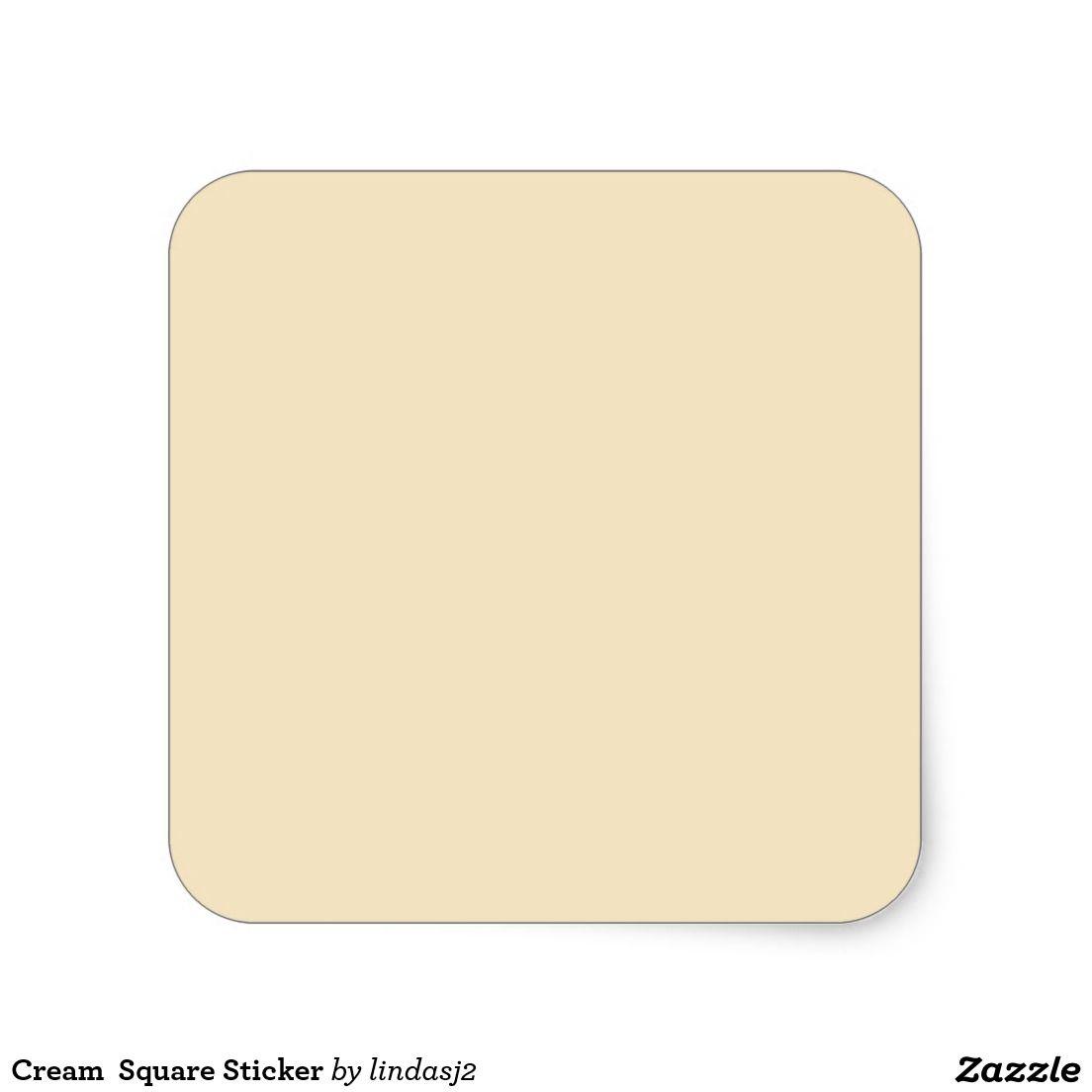 Cream  Square Sticker