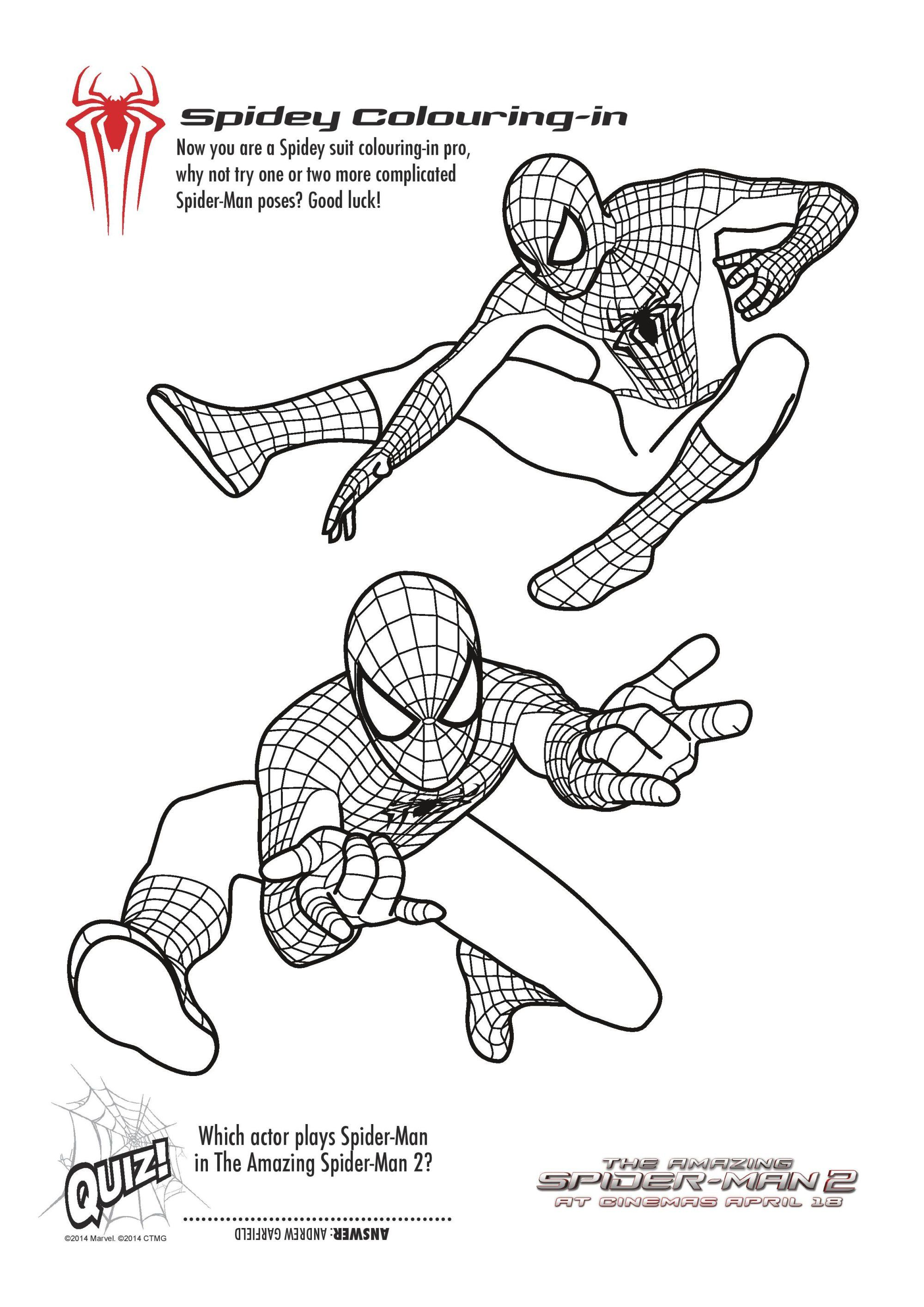 spider-man colouring pages free printables  Spiderman coloring