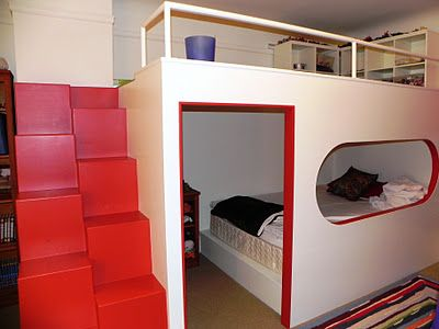 Reverse Loft Hang Out Area Above Bed Bunk Beds With Stairs Loft Bed Diy Loft Bed