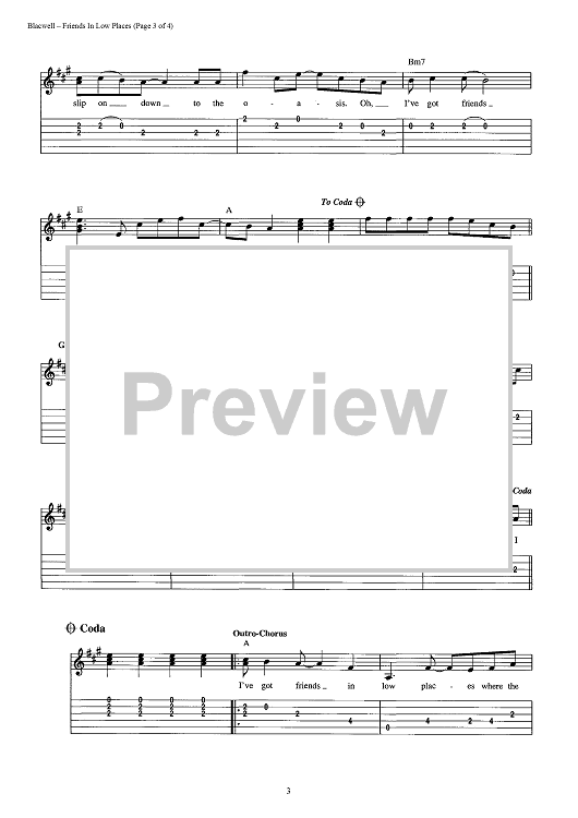 Friends In Low Places | Pinterest | Chris gaines, Easy guitar tabs ...