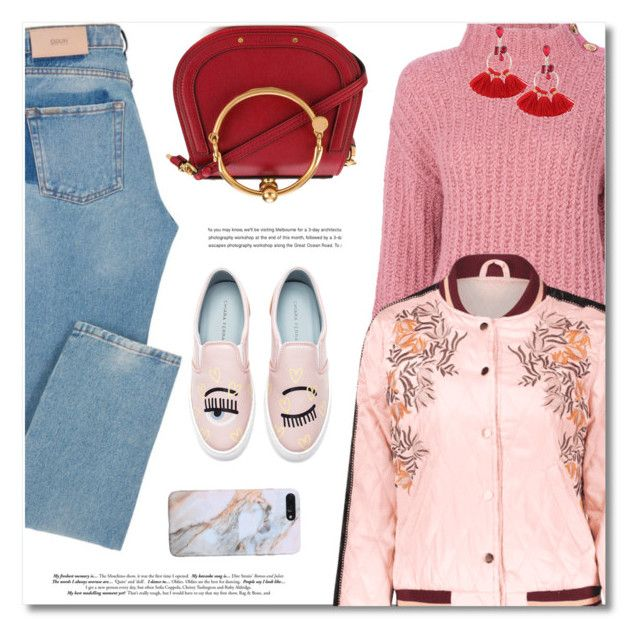 """""""How to Wear: Chunky Knits"""" by defivirda ❤ liked on Polyvore featuring Boutique Moschino, Chloé and Chiara Ferragni"""