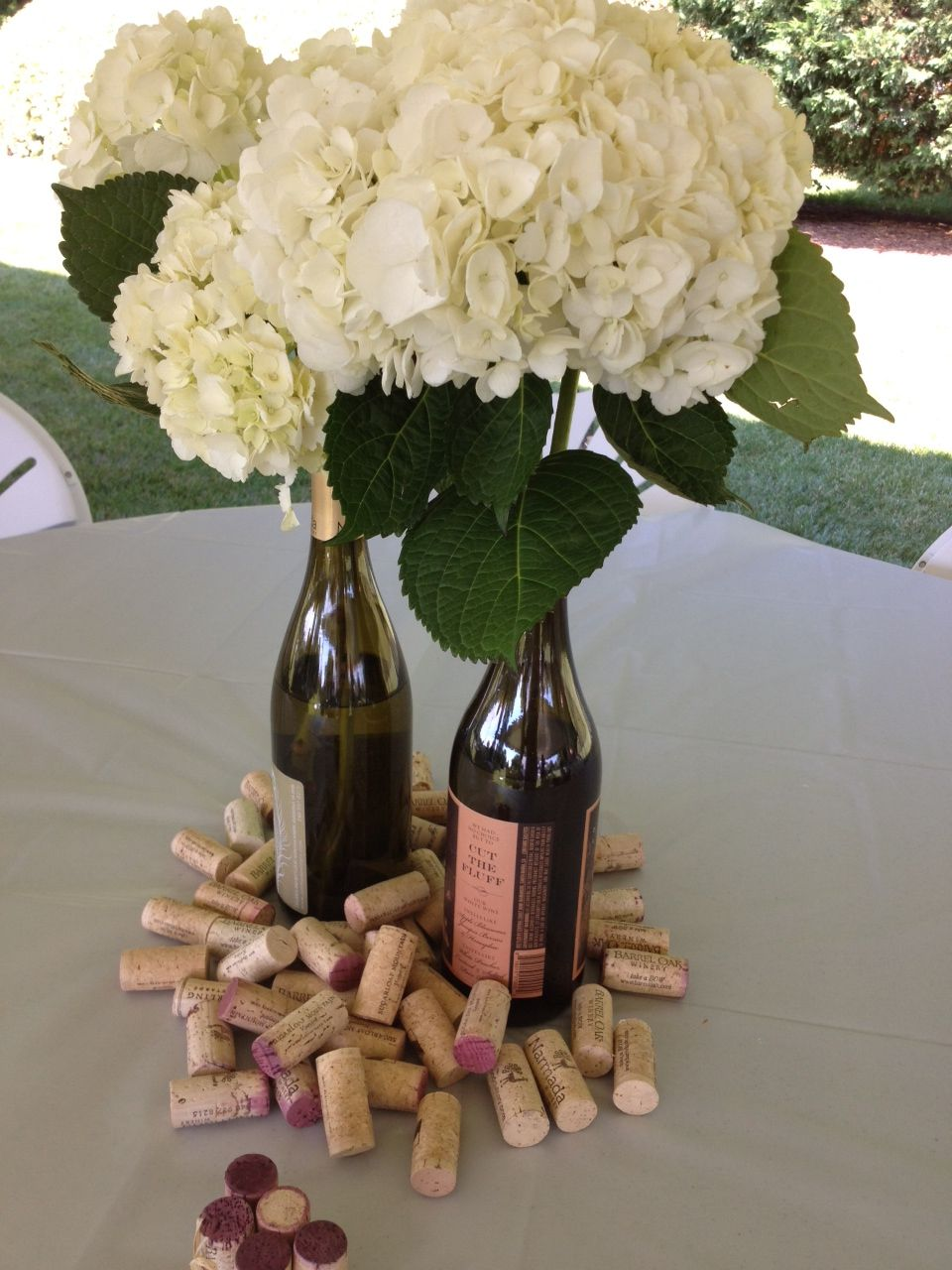love the centerpiece wine glass favors maybe a wine tasting game