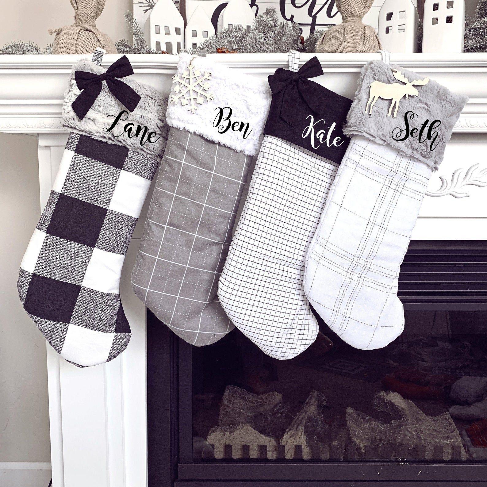 Farmhouse Christmas Stockings Personalized, Christmas