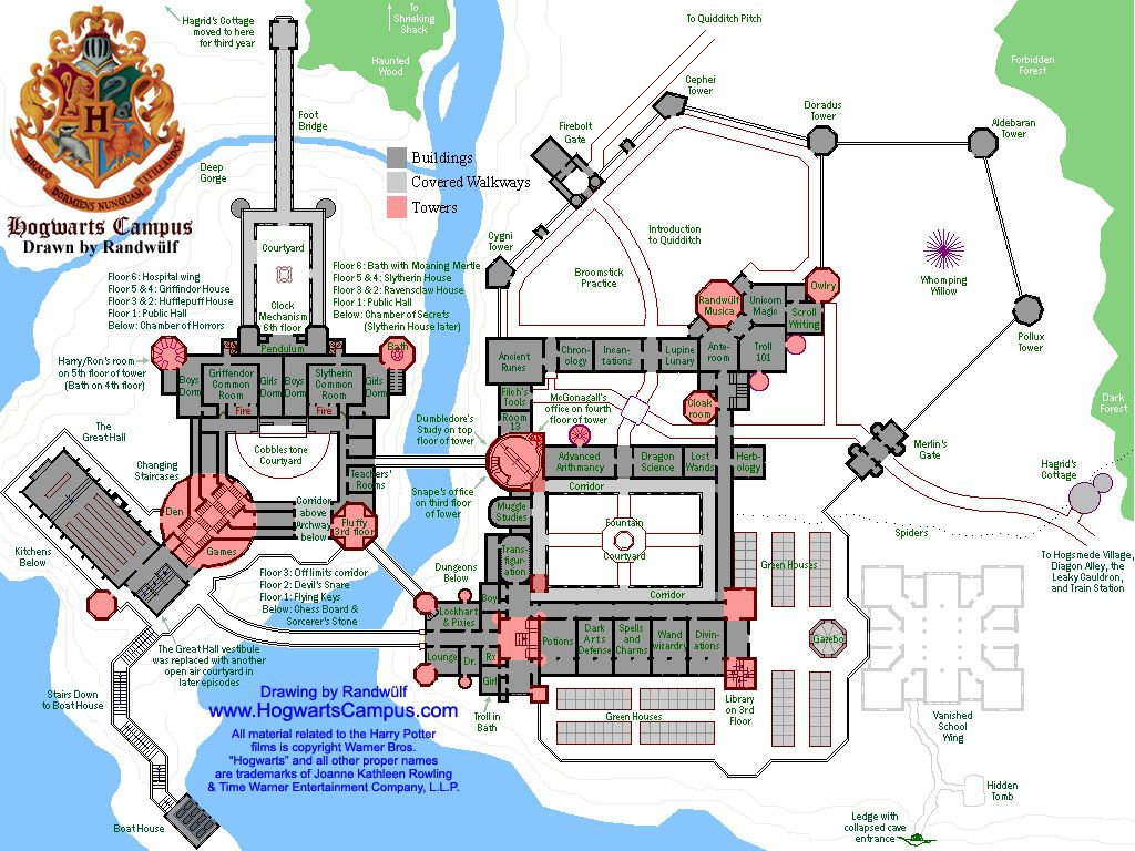 Hogwarts School Floor Plan Hogwarts Castle Floor Plan