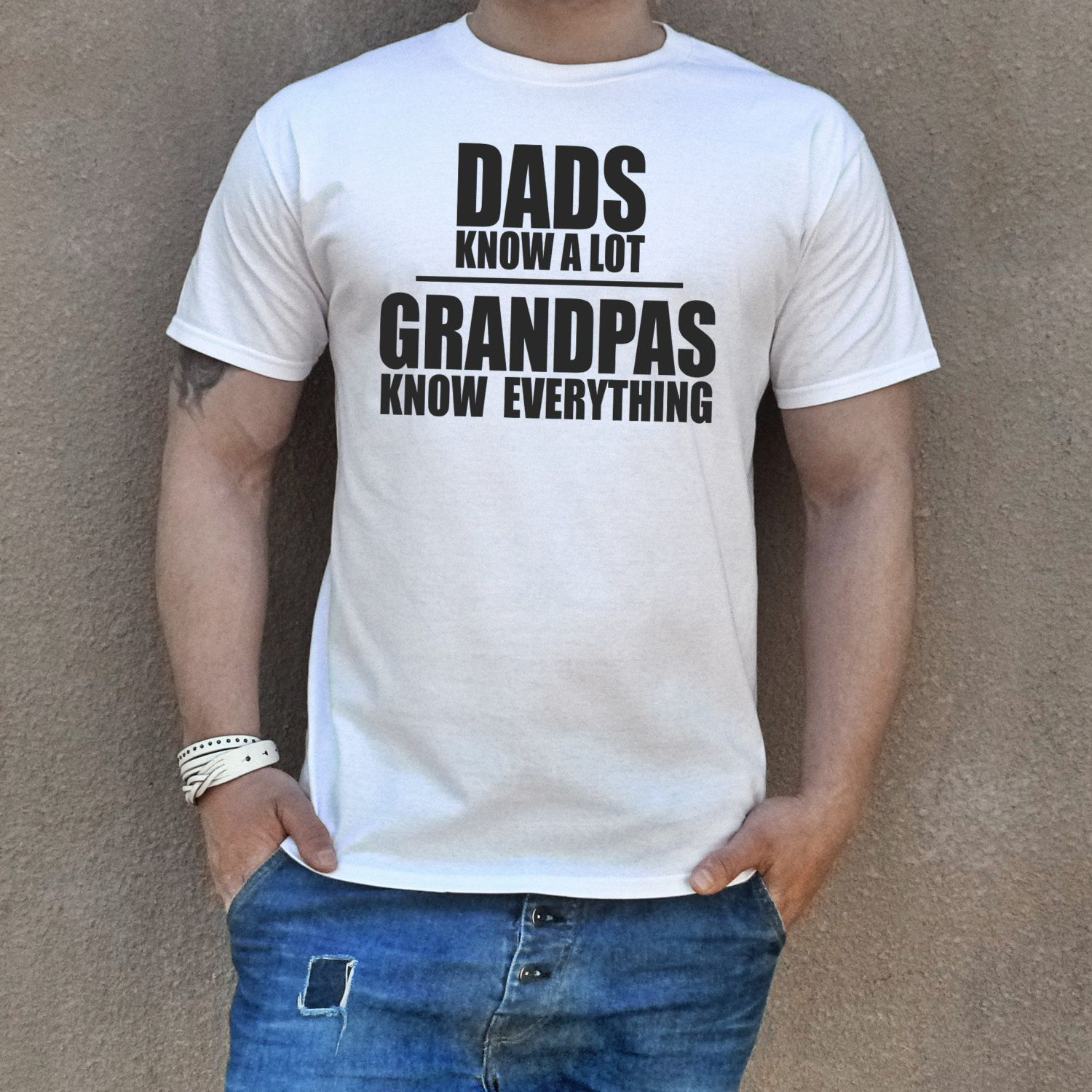 e2db9d35 Grandpa T-shirt GRANDPAS KNOW EVERYTHING. Grandfather t shirt. Father's  Day. Birthday Gift Best Grandpa shirt Funny grandpa gift.