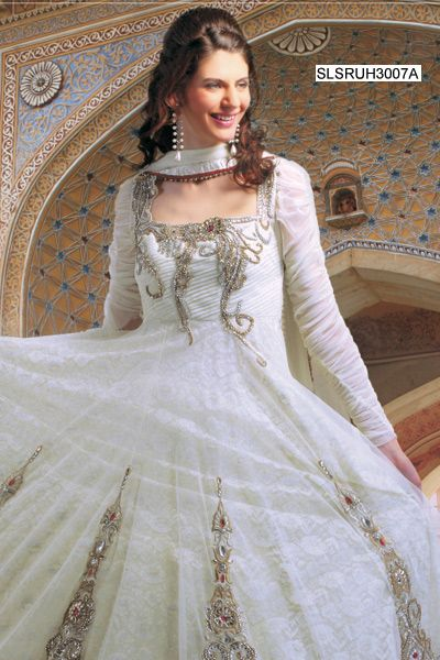 592bfbae014 Pristine Off White Net Salwar Suit