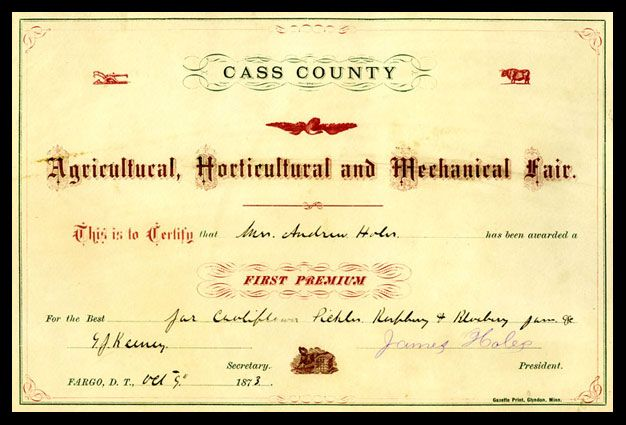 The 1st Fair In ND Was The Agricultural, Horticultural