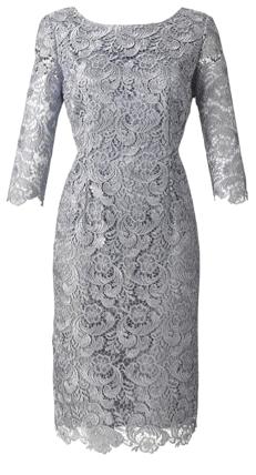 Silver Dress Joanna Hope Lace Dress Wedding Pins