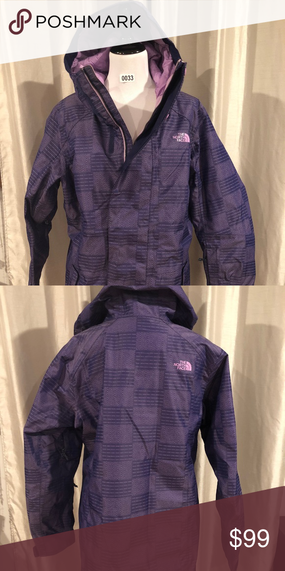 North Face XL Womens Ski Jacket Purple North Face XL Womens Ski Jacket  Purple No rips 227b4a999
