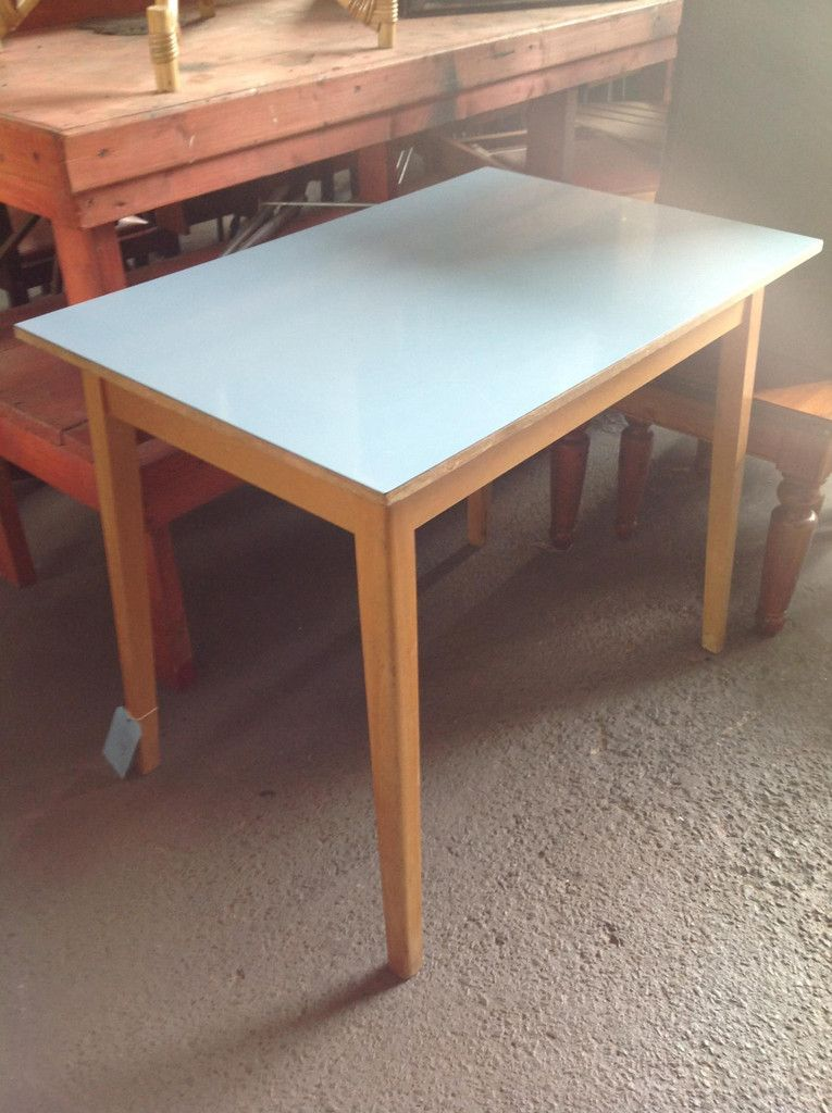 Pastel Blue Formica Table