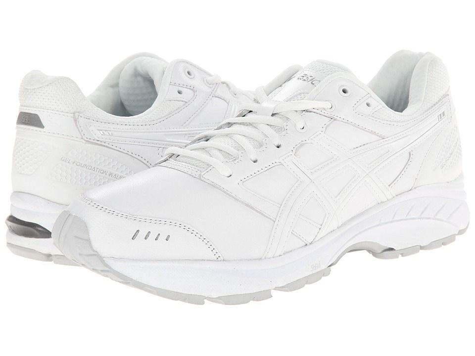 Periodo perioperatorio bordillo Si  Asics - Gel-foundation Walker(r) 3 (white/silver) Men's Walking Shoes    ModeSens   Mens walking shoes, Silver man, Asics